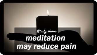 Study shows meditation can reduce pain