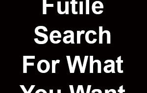 Your Pain Comes From a Futile Search For What You Want - NOPE