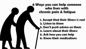 help someone who lives with chronic pain and fatigue
