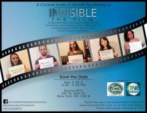 Invisible: fundraiser party Feb 9