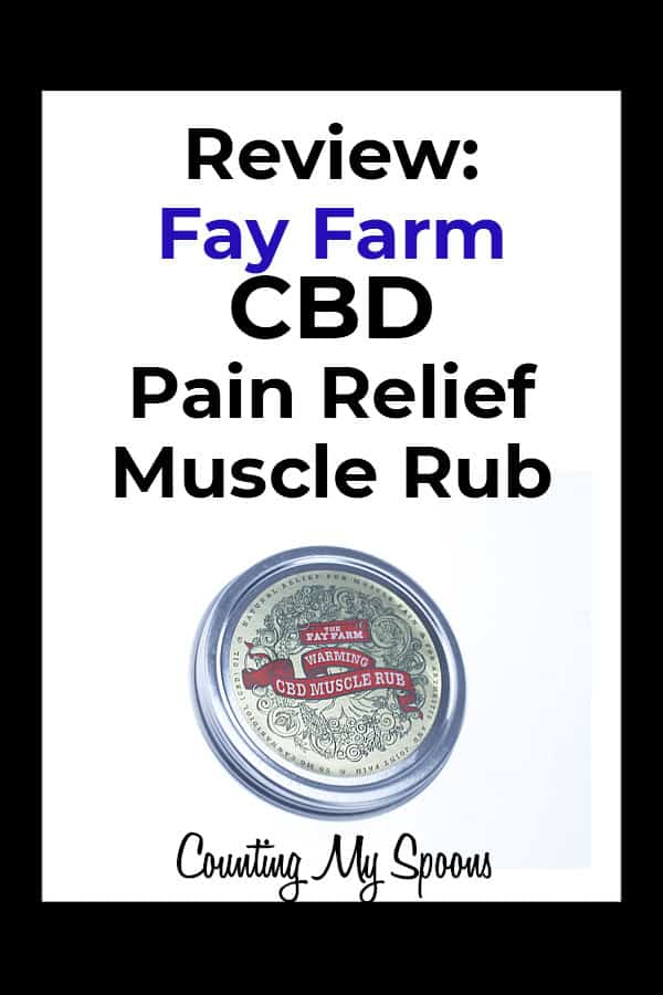 Fay farm CBD Muscle Rub for pain relief