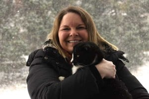 donna snowday with fur baby