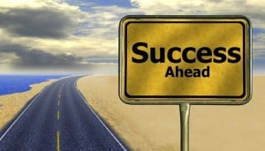 Success Ahead (road sign)