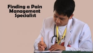finding a pain management specia