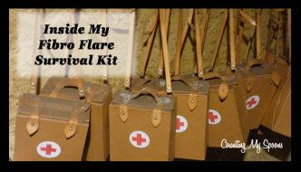 What's inside my fibro flare survival kit? (image of med kits) Counting My Spoons