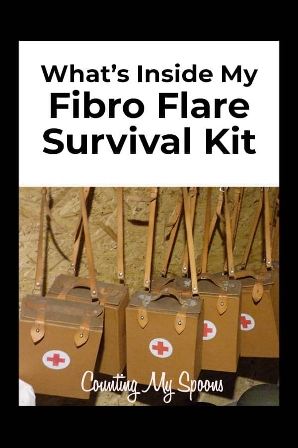What's inside my Fibro Flare Survival Kit (image of med kits) Counting My Spoons
