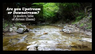 Are you upstream or downstream? (A modern fable of chronic illness)