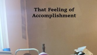That feeling of accomplishment