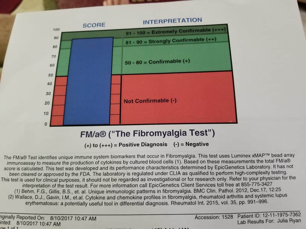 Fibromyalgia blood tests from EpicGenetics