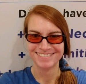 Theraspecs tinted glasses for light sensitivity