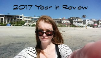 2017 year in review - image of Julie on the beach in Carslbad CA