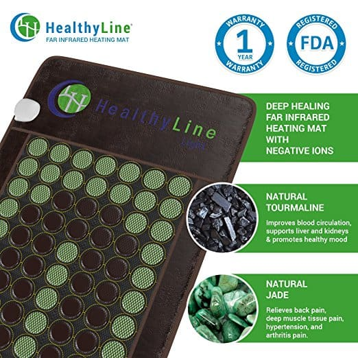 Natural gemstone heat therapy from Healthyline far infrared mats