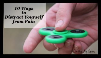 10 ways to distract yourself from pain (image of a fidget spinner)