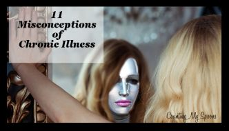 11 Misconceptions of chronic illness (image of woman looking in mirror and seeing distorted view)