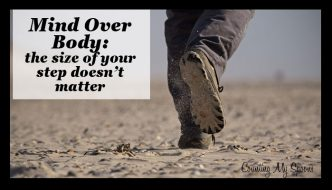 Mind over body: the size of your steps doesn't matter