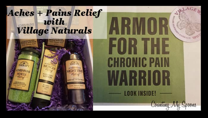Muscle aches and pains relief with Village Naturals