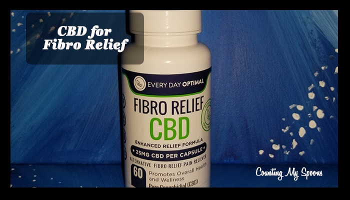 Fibro Relief CBD capsules from Every Day Optimal - a review from Counting My Spoons