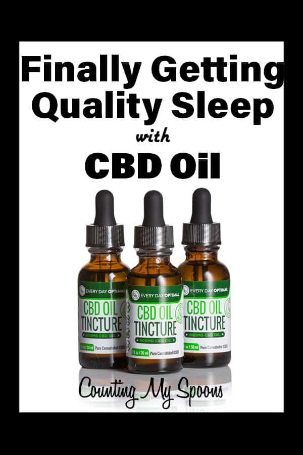 How CBD OIL finally helped me get quality sleep