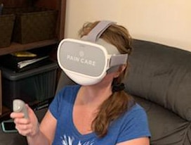 Me using the PainCareVR Oculus headset